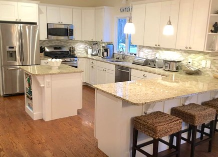 Mashpee Cape Cod vacation rental - Fully-equipped kitchen with pots, pans, dishes, glassware, etc