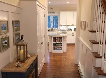 Mashpee Cape Cod vacation rental - Front hallway view view to kitchen