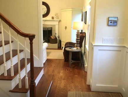 Mashpee Cape Cod vacation rental - Front hallway with view to living room