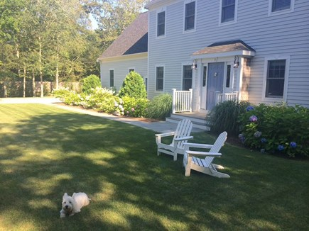Mashpee Cape Cod vacation rental - Front entrance. House is located down long driveway on 1.5 acres.