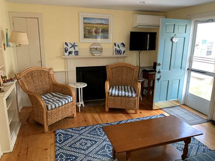 Dennis Port Cape Cod vacation rental - Living room with cable television and cottage WiFi.
