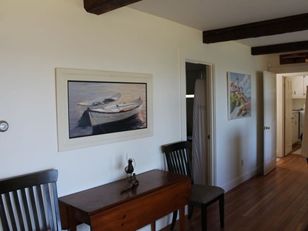 Bourne, Pocasset Cape Cod vacation rental - Hallway to first floor master en-suite, laundry and twin bedroom.