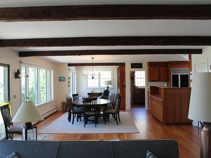 Bourne, Pocasset Cape Cod vacation rental - Open reading nook/dining/living room