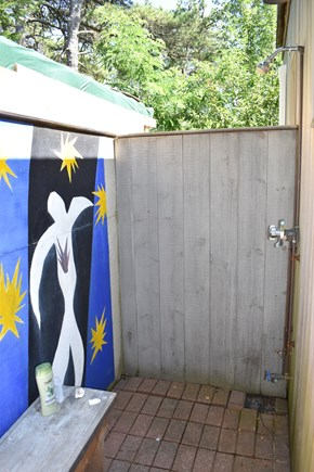 Wellfleet Cape Cod vacation rental - Outdoor shower behind the guest house; very private!