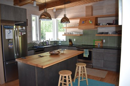 Wellfleet Cape Cod vacation rental - Kitchen, with stone counter, tile and unique design details