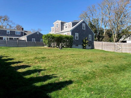 Chatham Cape Cod vacation rental - View of the Back Facing West Showing the Spacious Backyard