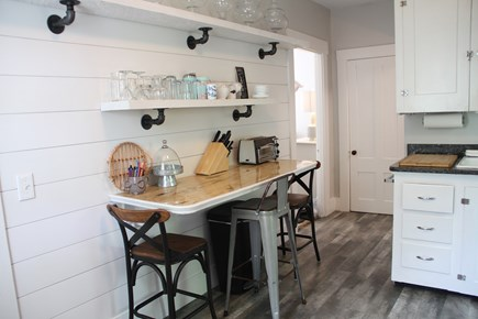 Centerville Centerville vacation rental - Enjoy shiplap charm while at dining nook in kitchen!