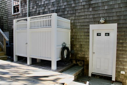 Centerville Centerville vacation rental - Large outdoor shower and a little laundry room.