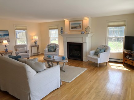 South Chatham Cape Cod vacation rental - Living Room with TV and Sitting Area With Views
