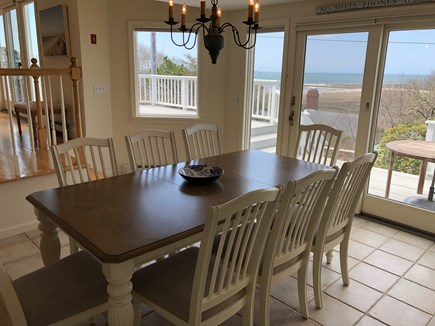 South Chatham Cape Cod vacation rental - Dining Area Open to Kitchen With Views