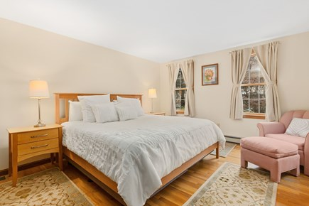 Orleans Cape Cod vacation rental - First floor master bedroom with king bed and bath.