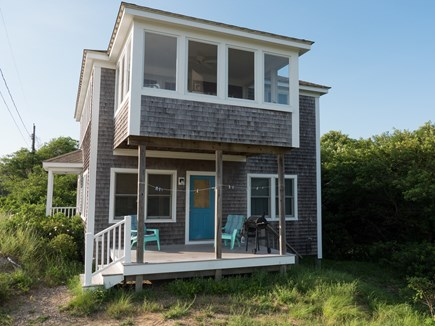 Truro Cape Cod vacation rental - Side Deck and Screened in Porch Upstairs