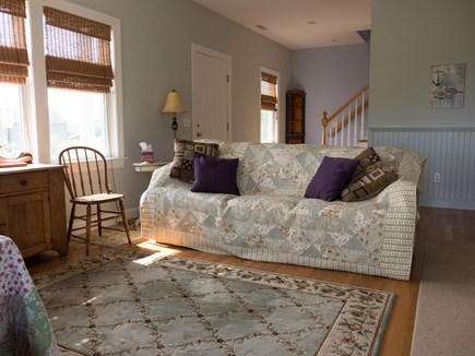Truro Cape Cod vacation rental - Downstairs living room/sitting area (will be made into a bedroom)