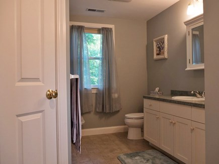 Truro Cape Cod vacation rental - Downstairs full bath (with washer & dryer)