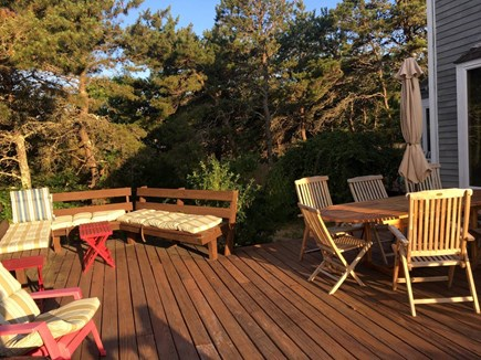 Truro Cape Cod vacation rental - Teak table with seating for eight