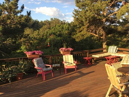 Truro Cape Cod vacation rental - Ample seating and beautiful light on front deck