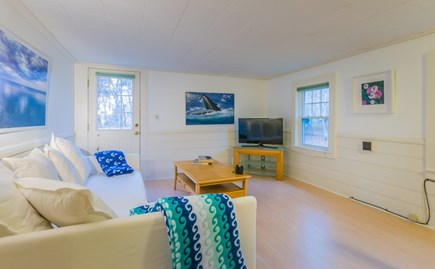 Plymouth, Ellisville  MA vacation rental - Living Room with TV and access to upper deck
