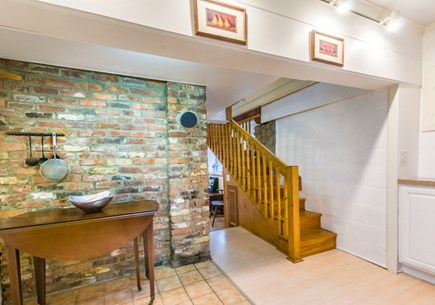 Plymouth, Ellisville  MA vacation rental - Stairway to upper level Living Room