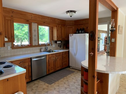 Eastham Cape Cod vacation rental - Fully equipped kitchen with double windows overlooking front lawn