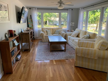 Eastham Cape Cod vacation rental - Bright living room with comfortable seating for 6.