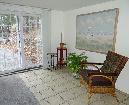 Brewster Cape Cod vacation rental - Extra room , sitting area ,downstairs, walk out slider
