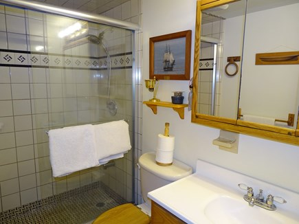 Brewster Cape Cod vacation rental - Bathroom on main floor, large shower