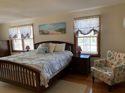 Eastham Cape Cod vacation rental - Master bedroom on first floor with 1 king and 1 twin bed.