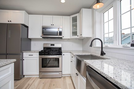 Onset MA vacation rental - View of the Kitchen with all brand new stainless appliances.