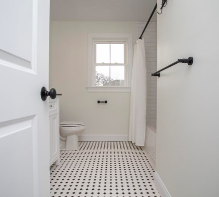 Onset MA vacation rental - Second Floor Bathroom, with view out the window.
