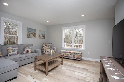 Onset MA vacation rental - Beachy Living room filled with natural light.