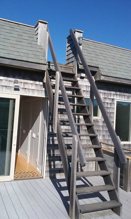 Eastham Cape Cod vacation rental - Ladderlike staircase from 3rd deck to 4th deck ROOFTOP!