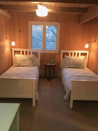 Eastham Cape Cod vacation rental - Twin bedroom entry level with direct entry into shower bathroom.