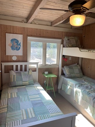 Eastham Cape Cod vacation rental - Bunk bedroom with a single too on entry level.