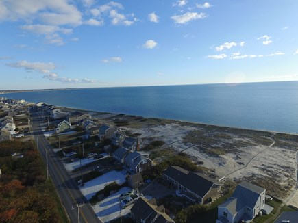 North Truro Cape Cod vacation rental - Drone view of house