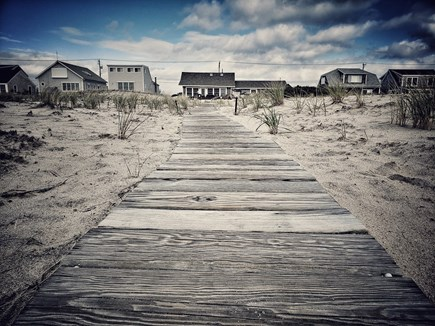 North Truro Cape Cod vacation rental - House from the beach