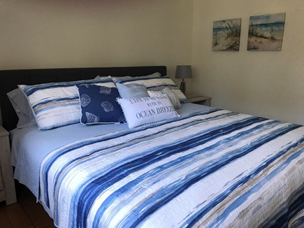 Wellfleet Cape Cod vacation rental - Upstairs master suite with king bed, AC and attached full bath
