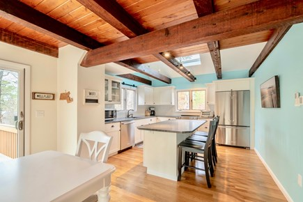 Wellfleet Cape Cod vacation rental - Beautiful kitchen with vaulted ceiling, skylights &new appliances