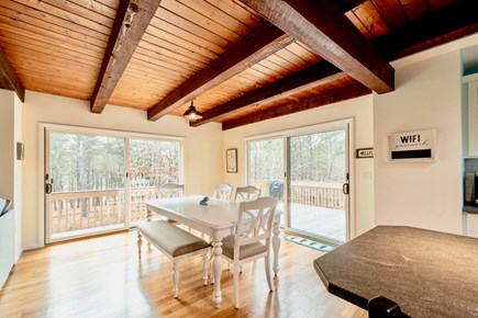 Wellfleet Cape Cod vacation rental - Light-filled dining room with sliders onto the spacious back deck