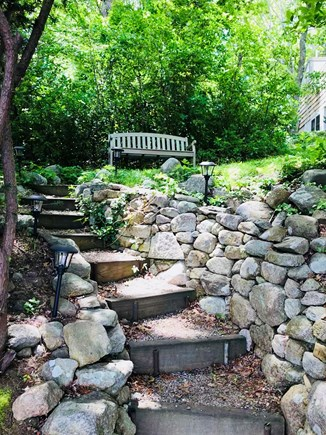 Barnstable Cape Cod vacation rental - Steps leading to pond front
