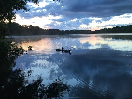 Barnstable Cape Cod vacation rental - Pond at sunset