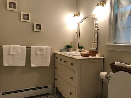 Barnstable Cape Cod vacation rental - Bathroom:  toilet, shower, sink, medicine cabinet