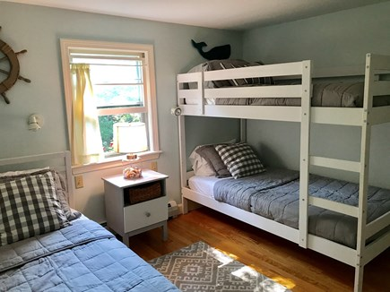 Barnstable Cape Cod vacation rental - Bedroom: Bunk bed and twin bed