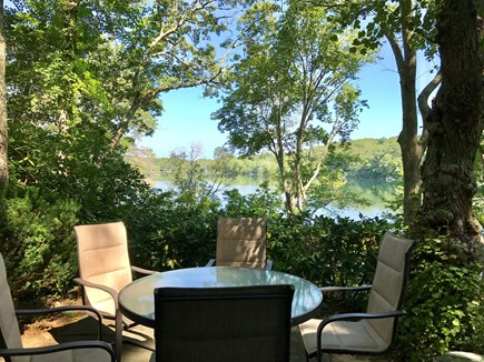 Barnstable Cape Cod vacation rental - Patio   table, 5 chairs, charcoal grille