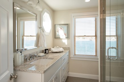Dennis, Bass River Cape Cod vacation rental - Master bathroom off suite in second floor master-with water view