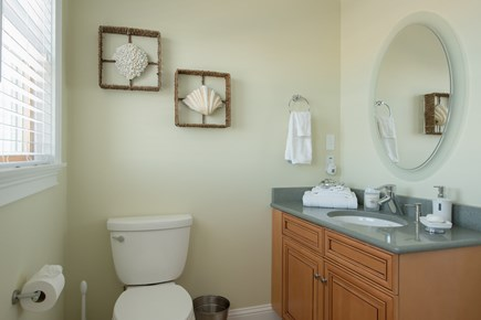 Dennis, Bass River Cape Cod vacation rental - Second floor full bathroom with water view
