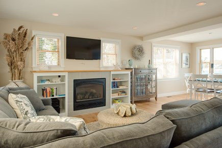 Dennis, Bass River Cape Cod vacation rental - First floor spacious den open to deck & spectacular water views