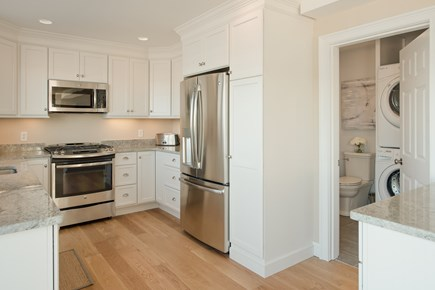 Dennis, Bass River Cape Cod vacation rental - Spacious, bright kitchen overlooking deck and beach and water