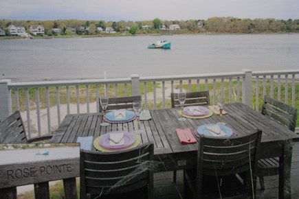 Dennis, Bass River Cape Cod vacation rental - Spectacular private view of the water from the back deck