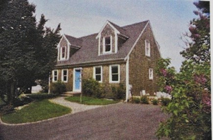 Dennis, Bass River Cape Cod vacation rental - Front of house at the end of a private street