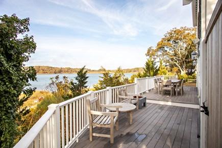 Dennis, Bass River Cape Cod vacation rental - Back deck overlooking Bass River
